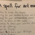 Flux Core Work 2019, Day One: A Spell for Art-Making
